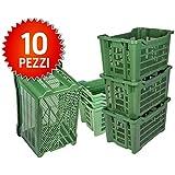 CUBO de plástico 10 cajas agrícolas apilables abiertas ...