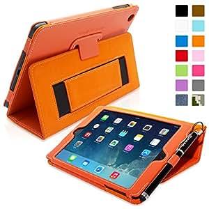 Snugg (TM) - Étui Pour iPad Mini & Mini 2 - Smart Case Avec Support Pied Et Une Garantie à Vie (En Cuir Orange) Pour Apple iPad Mini & Mini 2