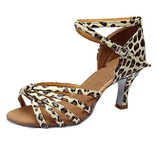 ❤️ Amlaiworld Mädchen Latin Dance Schuhe Med-Heels Satin Schuhe Party Tango Salsa Dance Schuhe