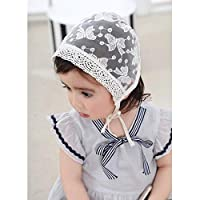 DAYNECETY Baby Infant Summer Hat Infant Sun Beach Hat Cap Cotton Lace Knitted Hat Baby Girls Boys Bonnet Photography Props White/Pink
