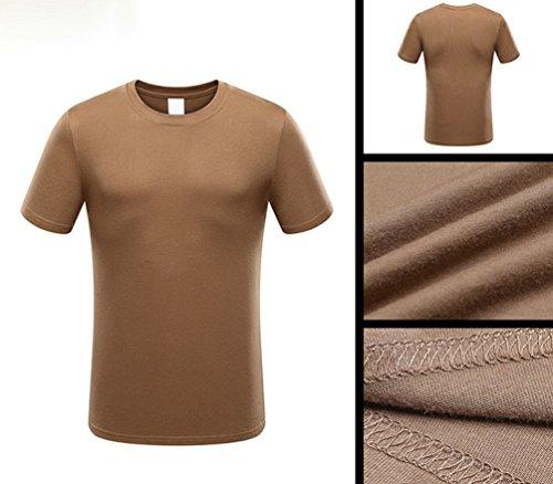 ZhiYuanAN Herren Militär Körperliches Training Sport T-Shirt Army Einfarbig  Kurze Ärmel Rundhals Camo Tee ...