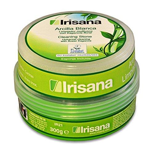 Irisana 72.IR21 - Arcilla ecologica para limpieza, color blanco