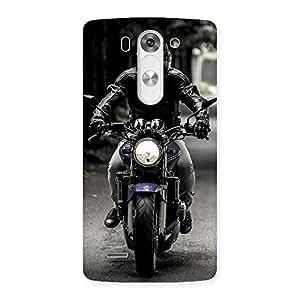 Enticing Bike Rider Multicolor Back Case Cover for LG G3 Mini