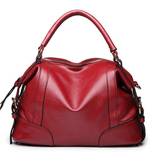 LAIDAYE Frau Schultertasche Messenger Bag Handtasche Mode-Handtaschen Red
