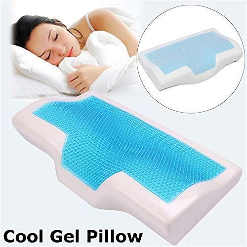 QLQ 1 Memory Foam Kissen Sommer kühlen Anti-Schnarchen Hals orthopädische Schlafkissen + Heimbettwäsche Kissenbezug (Kissenbezug Hals)