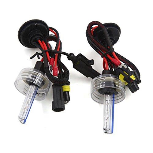 sourcingmap® 2 PC DC 12V 8000K H1 HID Xenon Wiedereinbau Birnen Licht Lampe für Auto