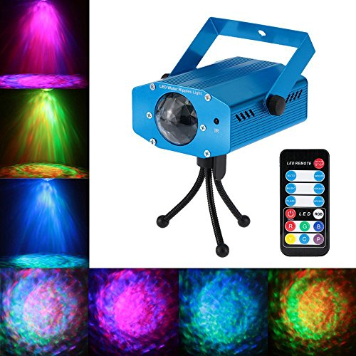 Blingco Mini 9W LED Licht Rotation Automatisch Bühnenbeleuchtung RGB Sprachaktiviertes Kristall Magic Ball Bühnenlicht mit Controller für DJ Disco Ballsaal KTV Stab Stadium Club Party Ac Slave Flash