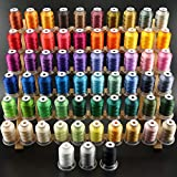 New brothread 63 Brother Couleurs Polyester Fil machine à broder pour Brother / Babylock / Janome / Singer / Kenmore Machine 500M (550Y) / bobine...