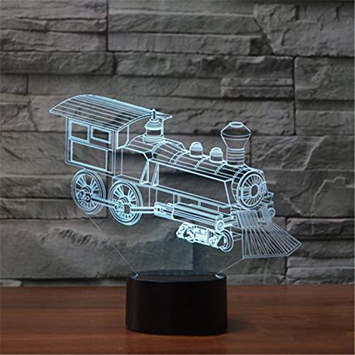 YDBDB Nachtlicht Alte Zug-Lampe Usb-Sichtacrylnoten-Tabelle der Lokomotiv3d führte die 7 Farbändernde Baby-Schlaf-Beleuchtung Kindergeschenke