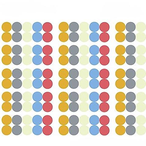 10pcs Blank Multicolore rond Cercle Bouteille d