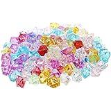 Piedras de Cristal - TOOGOO(R) 130 piezas Piedras decorativas de cristal de imitacion para acuario