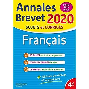Annales Brevet 2020 Français