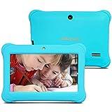 Alldaymall - 2017 Nouveau tablette tactile enfant 7', Quad Core, Android 5.1, appareil photo, 1GB + 8GB, écran HD(3rd Génération, avec étui silicone Bleu)