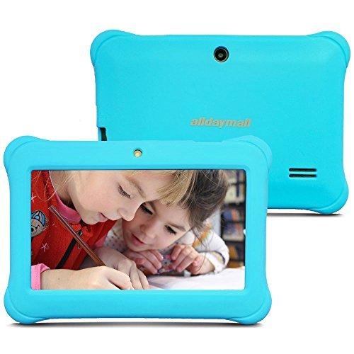 Alldaymall A88SK 7 Zoll Kinder Tablet PC Quad Core , Android 5.1 KitKat, 1GB RAM, 8GB NAND Flash mit Doppel Kamera und Wifi, Tablet für Kids mit Spezialangebot, HD 1024x600, Mit Blau (3rd Generation)