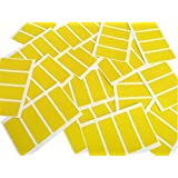 """Minilabel 50 x 20 mm """"Yellow Colour Code"""" Rectangular Self-Adhesive Coloured Label (Pack of 80)"""