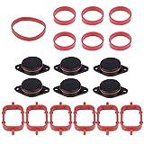 Manifold Dichtungen - 6 * 33mm Auto Aufnahme Diesel Swirl Klappe Rohlinge Reparatur Kit mit Manifold Dichtungen für BMW (schwarz blau und rot) (Color : Black)