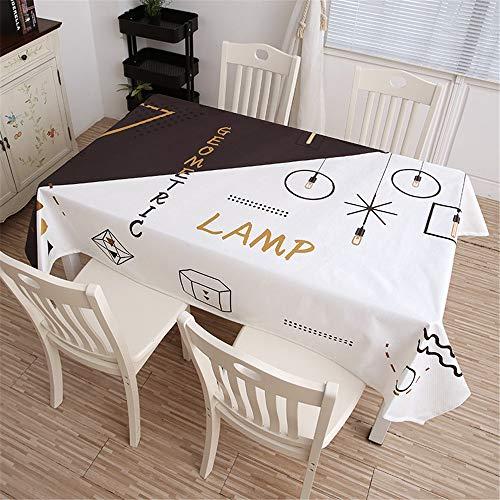 QWEASDZX Tischdecke Baumwolle und Leinen Klein frisch Digitaldruck Rechteckige Tischdecke Ölbeständiges Antifouling Wiederverwendbare Mehrzwecktischdecke 140x140cm -