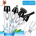 Lady Shaver 4 In 1 Facial Hair Removal For Women Painless Flawless Epilator Waterproof Electric Ladies Razor USB Rechargable Eyebrow TrimmerFace TrimmerNose Hair TrimmerBikini Hair Trimmer White
