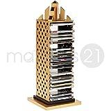 matches21 CD-Ständer 20x20x52 cm Holz Bausatz f. Kinder Werkset Bastelset ab 12 Jahren