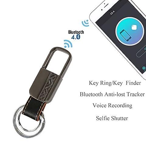 3H Schlüsselfinder, kabellos, Bluetooth Schlüsselanhänger Ring Locator GPS Tag Tracker Smart Antiverlust Finder Alarm für Kinder Schlüsseletui Auto Ortung Pet