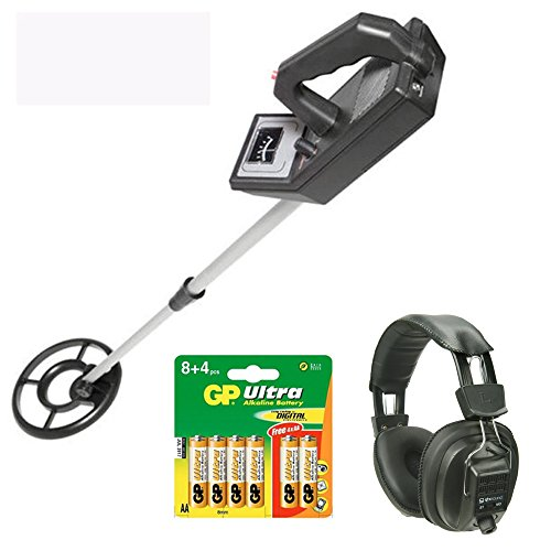 Visua VSMD52+ Lightweight Beginners Metal Detector with 19cm Waterproof Concentric Search Coil (Kit: H/Phones & Batts)