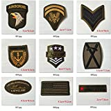 #8: Pinkdose® Pinkdose B: Super Quality 9Pcs Military Sets Embroidered Patches For Clothing Stripes Sew Iron On Clothes Patch Motorcycle Army Appliques