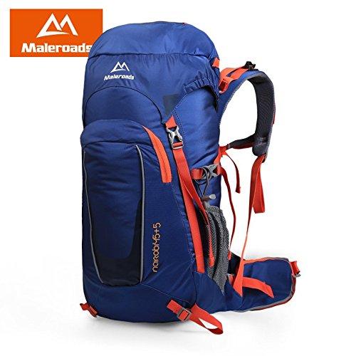 Outdoor-Bergsteigen Tasche Rucksack wandern outdoor Mehrzweck-Reisen Outdoor-Tasche für Männer und Frauen 50 L lake blue