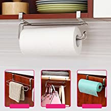 Soporte de acero inoxidable de Calistouk para colgar papel de cocina, rollos de papel de baño o toallas