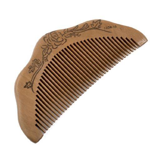TOOGOO(R) Peigne en bois de santal En forme de demi-lune Soins des cheveux