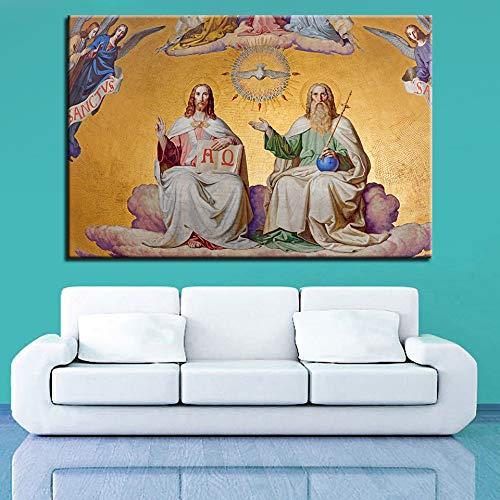 yhyxll Modulare Bilder Wandkunst HD Drucke 1 Stücke Leinwand Jesus Malerei Kreuz Home Christian Decor Wohnzimmer Klassische Kunstwerk Poster B 40x60 cm x 1