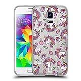 Head Case Designs Bonbon Zauberhafte Einhoerner Soft Gel Hülle für Samsung Galaxy S5 Mini