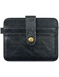 F9Q hommes et femmes Vintage Mini Moraillon petit sac à main au volant en cuir Porte cartes Porte monnaie