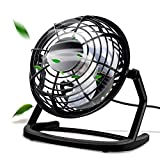 Mini Ventilateur, omitium Ventilateurs USB De Table Silencieux Ventilateur Portable 4' Mini Fan de Bureau...