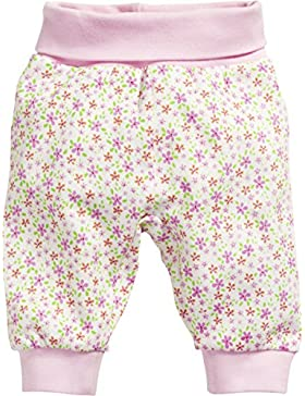Schnizler Baby-Mädchen Jogginghose Pumphose, Babyhose Blumen mit Elastischem Bauchumschlag