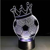 Fußball Krone 3D Lichter Bunte Touch Fernbedienung LED Visuelle Lichter Geschenk Tischlampe