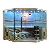 EO-SPA Sauna E1101 XL Pappelholz 250x250 9kW Cilindro