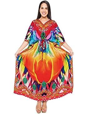 La Leela abito costume da bagno lungo caftano donne beachwear costume da bagno kimono coprire pi�