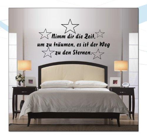 Indigos Wandtattoo w033 Spruch Nimm Dir Zeit Um zu träumen es ist der Weg zu Den Sternen