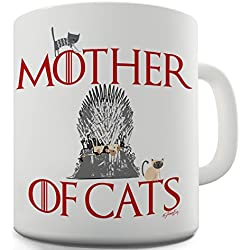 Trenzado Envy madre de gatos taza de cerámica de la novedad regalo