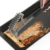 Cepillo y raspador para parrilla BBQ OKPOW Cepillos para barbacoa con manija larga antideslizante para parrillas de limpieza sin esfuerzo