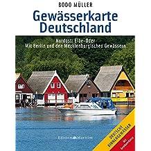 Gewässerkarte Deutschland Nordost: Elbe bis Oder