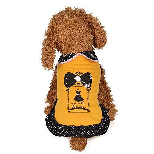 lies Frühling Und Sommer Hund Weste Puppe Niedlichen Kragen Rock Kleid Hundebekleidung Haustierkleidung, 10 ()