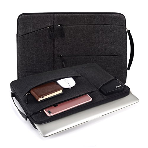 WIWU 13-13,3 Zoll Laptoptasche mit Griff, tragbare Schutzhülle Sleeve Hülle Schutztasche Aktentasche für MacBook Air 13,3 /MacBook Pro Retina 13,3/ Dell XPS 13/ Surface Pro 4 / Book Ultrabooks – (Schwarz, 13 Zoll)