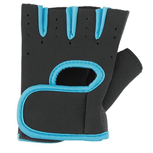 Sanwood® Fashion unisexe moitié doigt Sport Fitness Cyclisme Gants de conduite Bleu Bleu grand