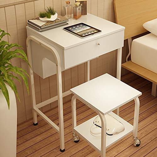 ZHIRONG Moderne Schminktisch-Set mit großen Flip-Top-Spiegel, reichlich Stauraum, Make-up-Tisch mit Organizers, einschließlich Make-up Hocker (Farbe : Weiß) (Make-up-tisch-spiegel)
