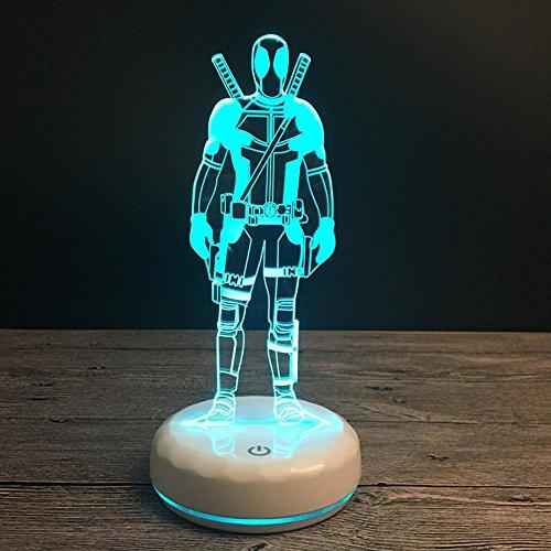 Wmshpeds Porzellan wissen Basen bunte 3D-LED-Lampe dreidimensionale visuelle Stereo Lampe Touch-Schalter gradient Lampe -
