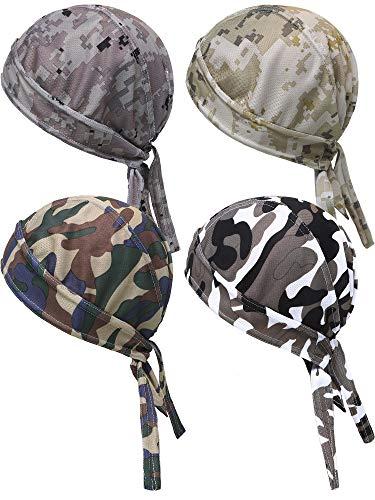 Blulu 4 Pezzi Cappellino per Berretto Traspirante UV Protezione Berretto Testina per Asciugatura Rapida per Uomini Donne