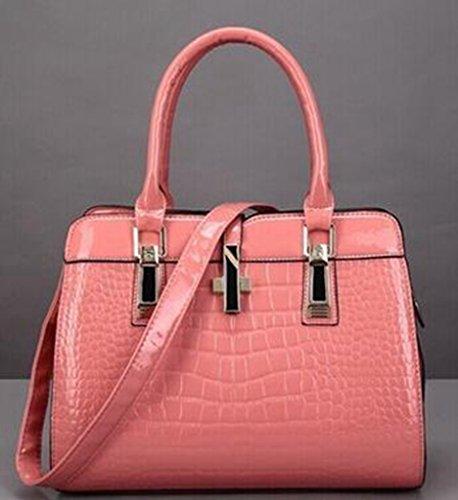 Borse di modo, spalla del modello coccodrillo signora, Messenger Bag Pink