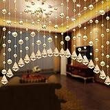 1 M Luxus Glasperlen String Quaste Vorhang Wohnzimmer Teiler Vorhang Panel Zimmer Tür Hochzeit Decor (Gold)