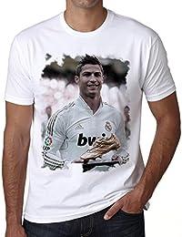 Cristiano Ronaldo T-shirt,cadeau,Homme,Blanc,t shirt homme